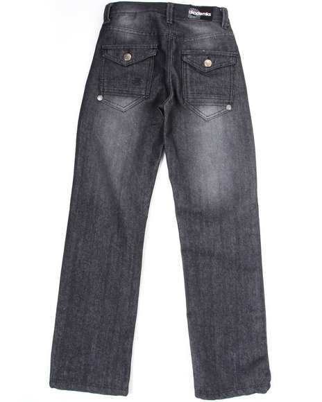 Akademiks Boys Black Battery Jeans (8-20)