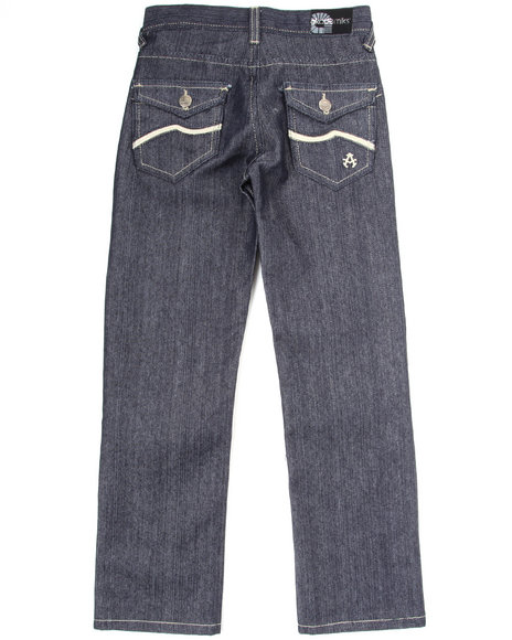 Akademiks Boys Dark Wash Wave Jeans (8-20)