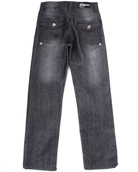 Akademiks Boys Dark Wash Battery Jeans (8-20)