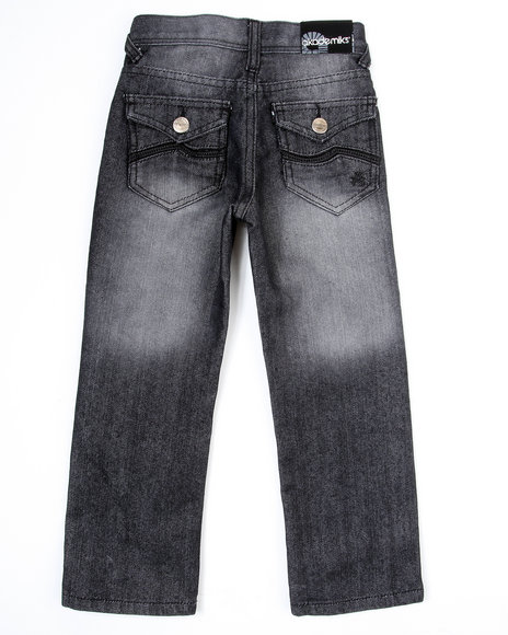 Akademiks Boys Black Wave Jean (4-7)