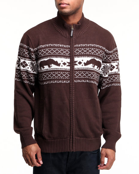 Ecko - Men Brown Rhino Confrontation Sweater