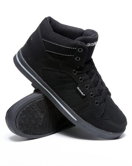 Akademiks Men Black,Grey Mud Guard Hightop Sneaker