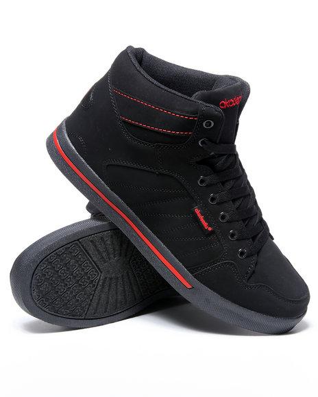 Akademiks Men Black,Red Mud Guard Hightop Sneaker