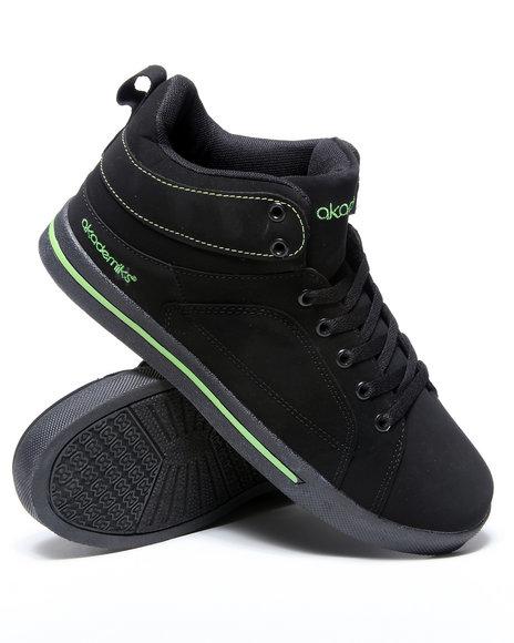 Akademiks Men Lime Green,Black Round Toe Hightop Sneaker