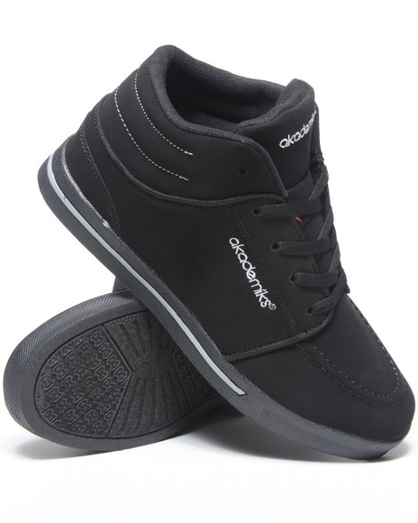Akademiks Men Black,Grey Chukka Hightop Sneaker