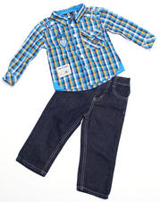 2T-4T Toddlers - 2-piece Jackson Plaid Woven Set (INF)
