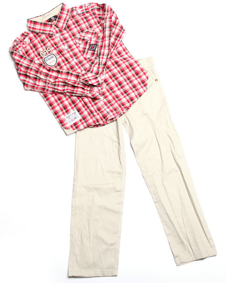 - 2pc Jackson Plaid Woven Set (8-20)