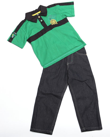 - 2pc Devon Polo Set (NB)