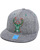 Adidas - Milwaukee Bucks Flat brim tweed snapback hat