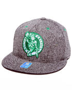 Adidas - Boston Celtics Flat brim tweed snapback hat