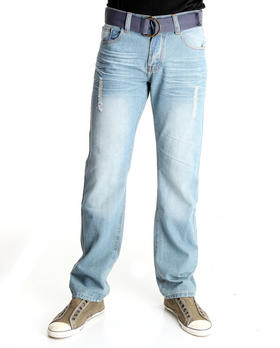 Basic Essentials - Ranch Belted Denim Jeans