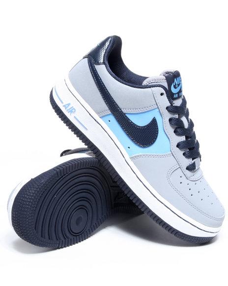Nike Boys Grey Air Force 1 Sneakers (Grade-school Kids)