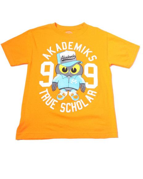 Akademiks Boys Orange S/S Owl Tee (8-20)