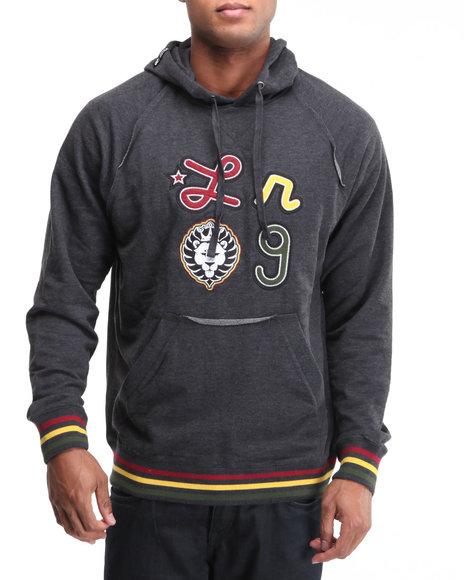 LRG Men Black Iron Irie Lion Pullover Hoodie