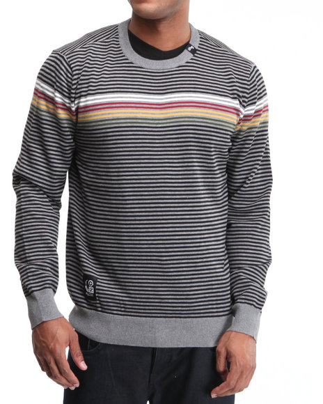 LRG Men Charcoal Ragga Champ Crewneck Sweater