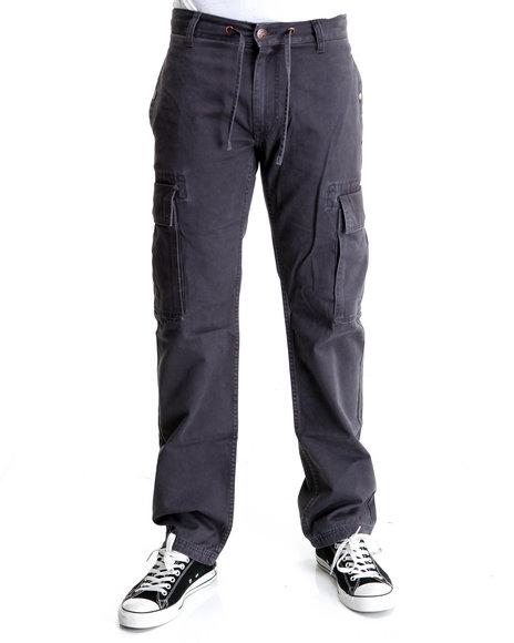 LRG Men Charcoal Vintage Field True-Straight Cargo Pants