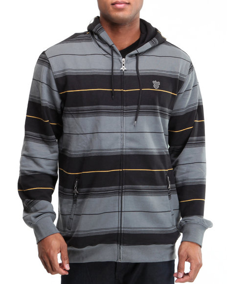 LRG Men Charcoal Wander In Zip-Up Hoodie
