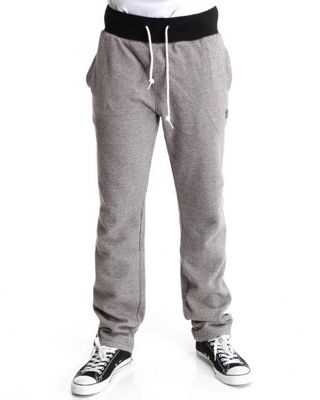 LRG Men Charcoal Derision Slim Sweatpants
