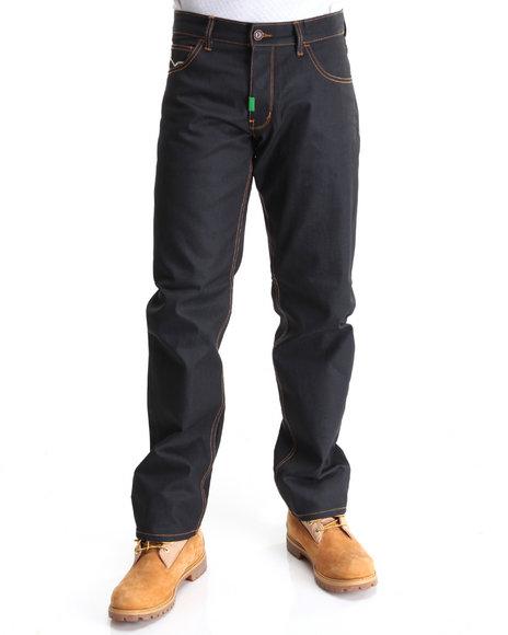 LRG Men Raw Wash Smokey Ridge True-Straight Denim Jeans