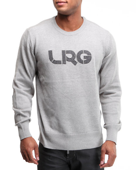 LRG Men Grey Survivalist Cotton Sweater