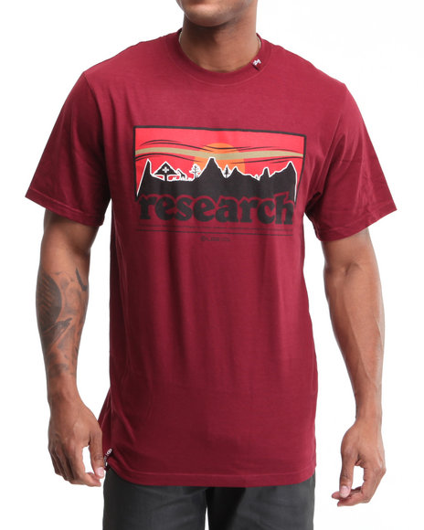 Lrg Men Maroon Motherland Research S/S Tee