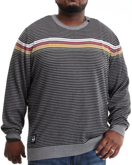 LRG Men Charcoal Ragga Champ Crewneck Sweater (B&T)