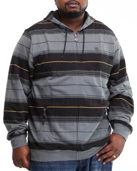 LRG Men Charcoal Wander In Zip-Up Hoodie (B&T)
