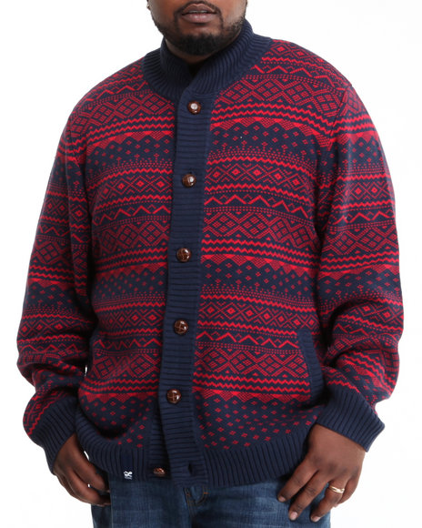 LRG Men Navy Uncle Norski Cotton Sweater (B&T)