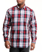 Nautica - Poplin Wide Plaid Button-Down Shirt