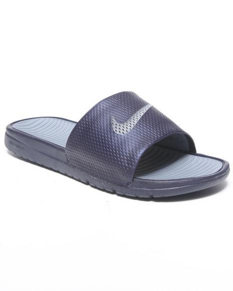 Nike Men Navy Benassi Solarsoft Slide Sandals