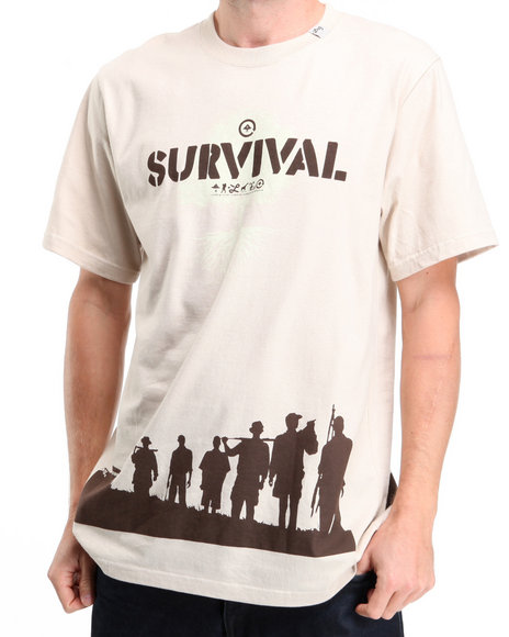 LRG Men Beige Survivalist S/S Knit Tee