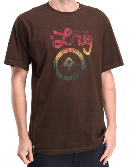 LRG Men Brown Strictly For The Roots S/S Tee