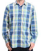 Nautica - Vineyard Poplin Plaid Button-Down Shirt w/ One Chest Pocket