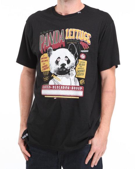 LRG Men Black Panda Lettuce Slim-Fit S/S Tee