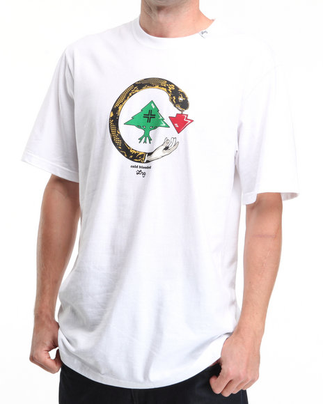 LRG Men White Cold Blooded S/S Tee
