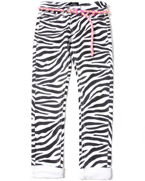 Baby Phat Girls White Belted Zebra (7-16)