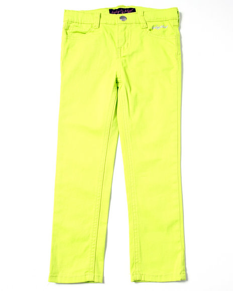 Baby Phat Girls Lime Green Neon Color Jeans (4-6X)