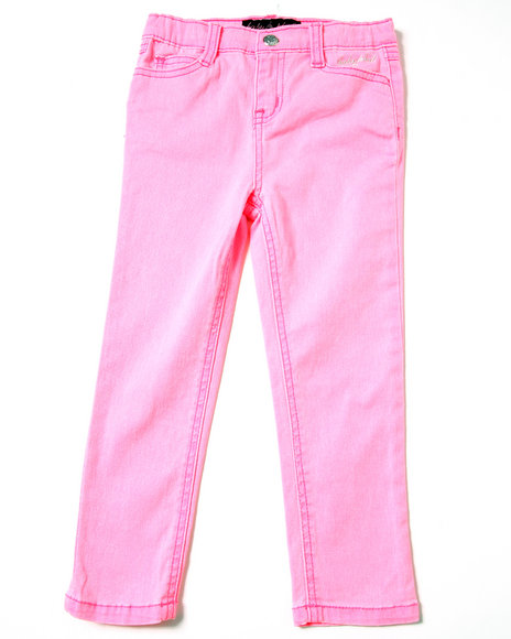 Baby Phat Girls Pink Neon Color Jeans (2T-4T)