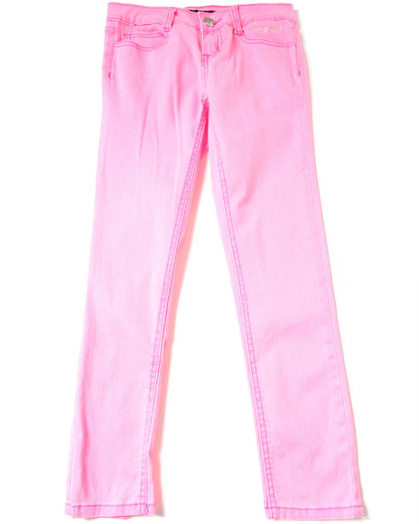 Baby Phat Girls Pink Neon Color Jeans (7-16)