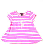T-Shirts - STRIPE TEE W/ LACE BACK (4-6X)