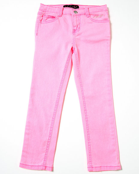 Baby Phat Girls Pink Neon Color Jeans (4-6X)