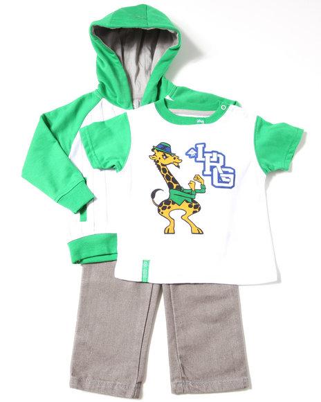 LRG Boys Green 3 Pc Set - Hoody, Tee, & Jeans (Infant)