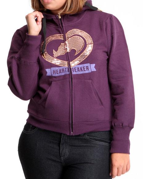 Ecko Red Women Purple Sequin Hoodie