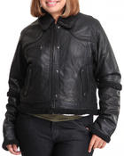 Women - Leather Flight Jacket (plus)
