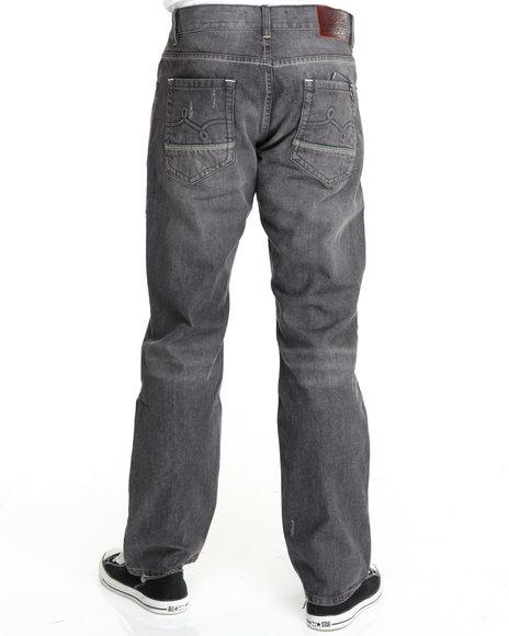 LRG Men Black Mangrove True-Straight Denim Jeans