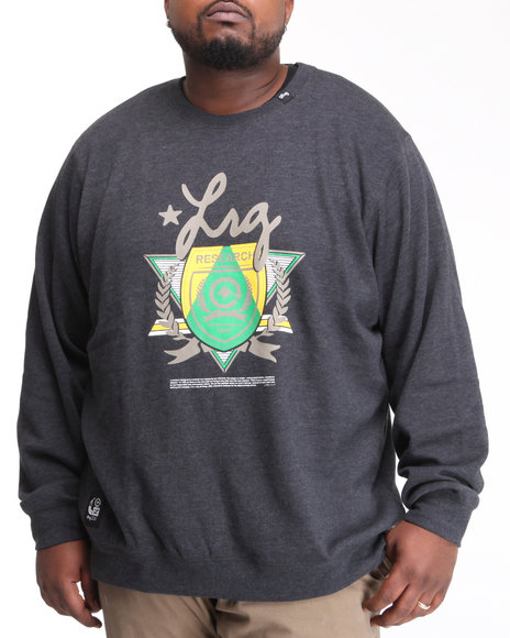 LRG Men Black Elite Fleet Crewneck Sweatshirt (B&T)