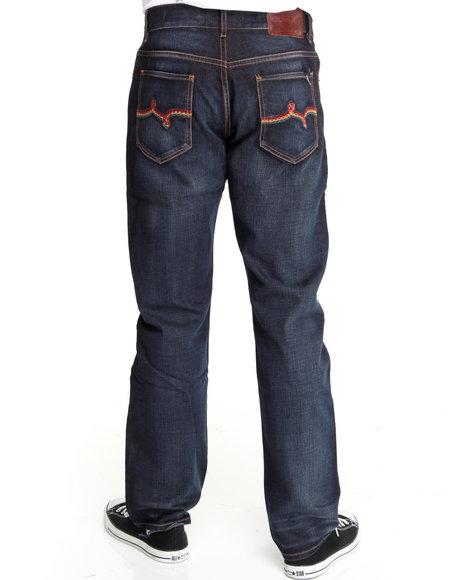 LRG Men Dark Wash So Sensi True-Straight Denim Jeans