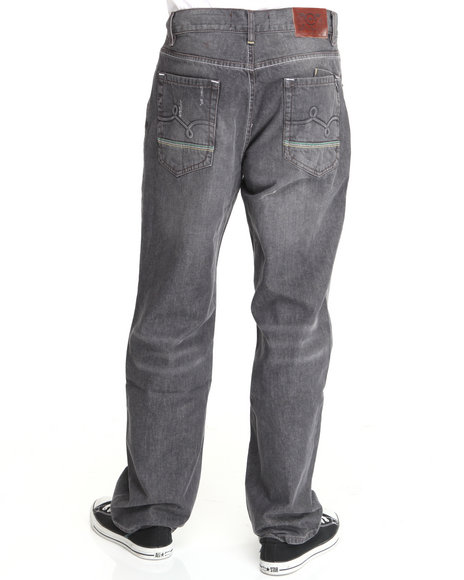 LRG Men Black Mangrove C47-Fit Denim Jeans