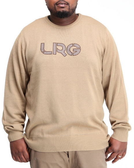 LRG Men Khaki Survivalist Cotton Sweater (B&T)
