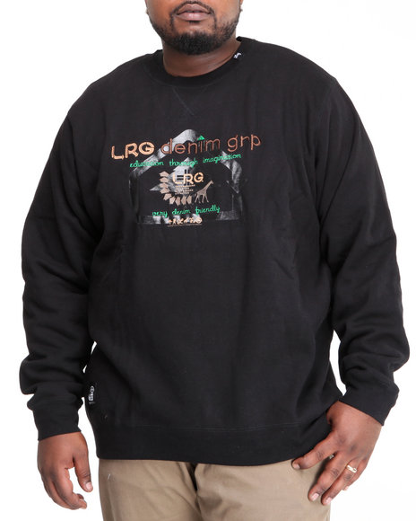 LRG Men Black Very Denim Friendly Crewneck Sweatshirt (B&T)